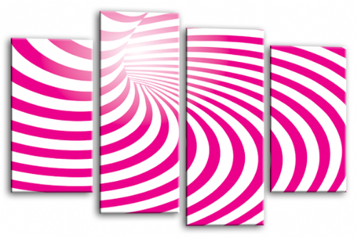 Abstract Wall Art Pink White Swirls Canvas Picture Print